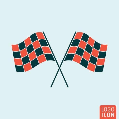 Racing vlagpictogram vector
