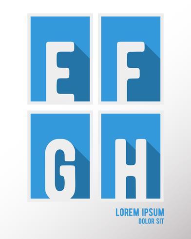 Lettertype lange schaduw vector