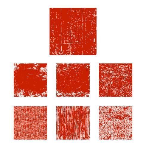 Grunge vierkante set vector