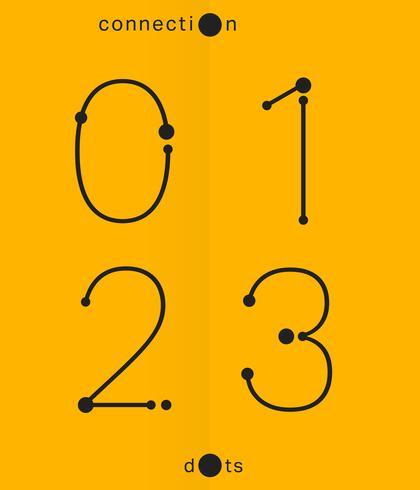 Dots-lettertypesjabloon vector