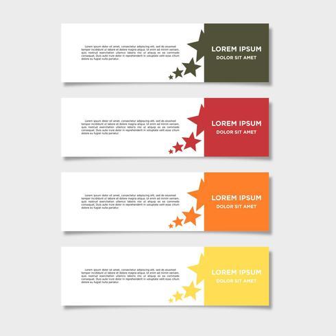 Vector abstracte geometrisch ontwerp banner websjabloon