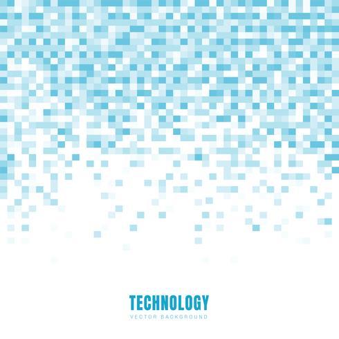 De abstracte geometrische witte en blauwe achtergrond en de textuur van het vierkantenpatroon met exemplaarruimte. Technologie stijl. Mozaïek raster. vector