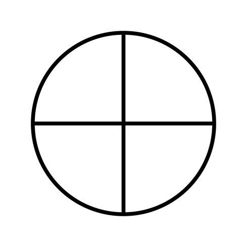 Cirkel mooie lijn zwart pictogram vector