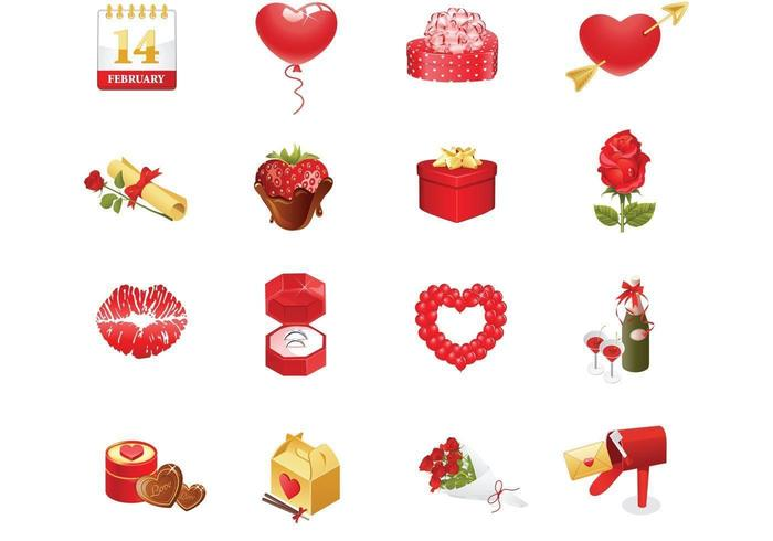 Valentijnsdag Vector Icons Pack