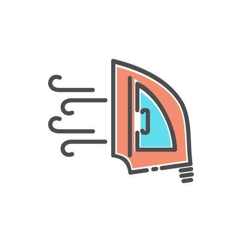 stoomstrijkijzer pictogram ontwerp vector