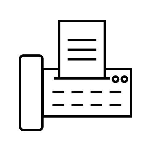 Faxlijn zwart pictogram vector