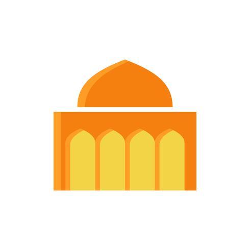 moskee platte pictogram. ramadan kareem vector