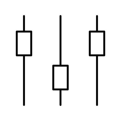 Besturingselementen Lijn zwart pictogram vector