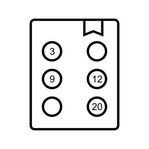 Los probleem op Mooi lijn zwart pictogram vector