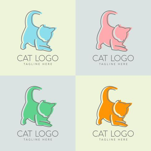 eenvoudig kattenlogo ontwerp vector