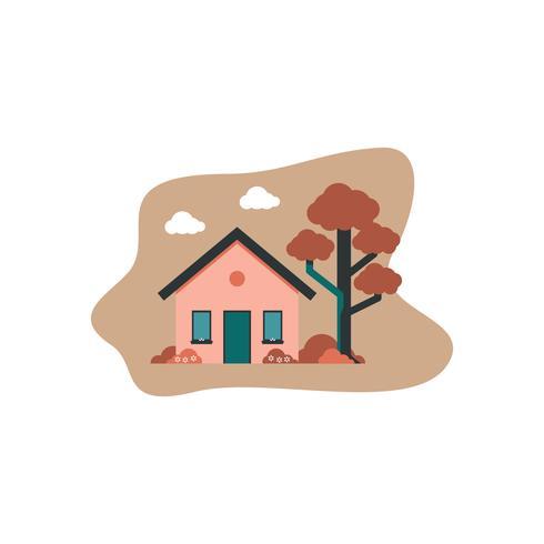 huis flat ontwerp vector