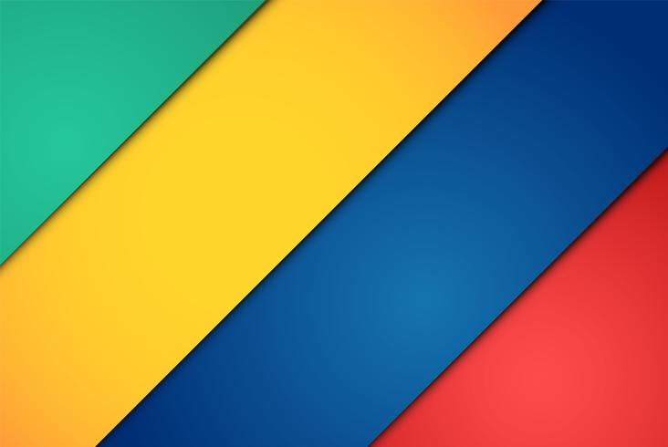 Realistische rode, groene, blauwe en gele vellen papier vector