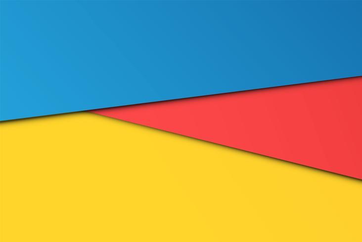 Realistische kleurrijke vellen papieren, vectorillustratie vector