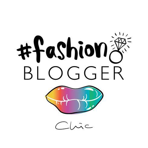 Mode blogger chic vector