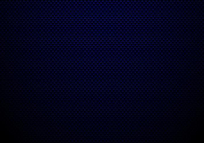 Donkerblauwe koolstofvezelachtergrond en textuur met verlichting. Materiaal behang voor auto tuning of service. vector