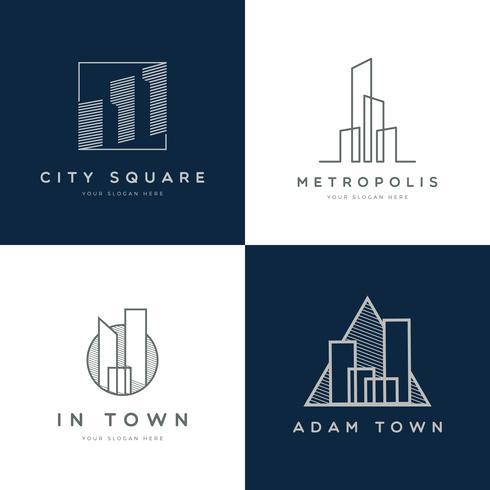 eigendom logo ontwerp collectie vector