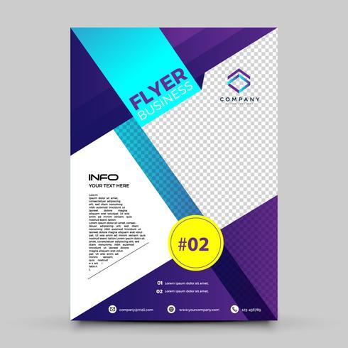 Paarse Flyer ontwerpsjabloon vector