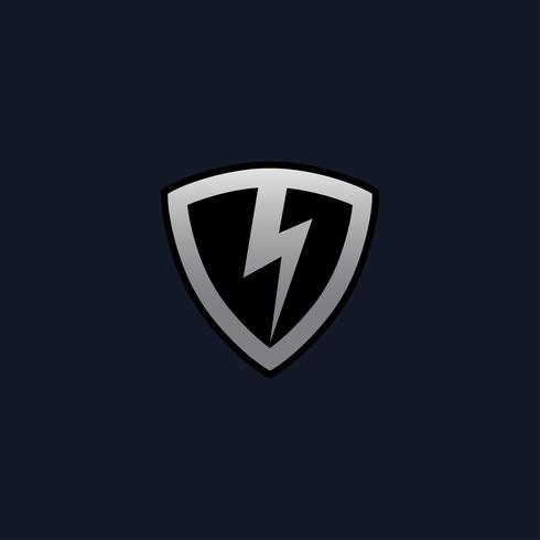 Thunderbolt Shield Logo conceptontwerpsjablonen vector