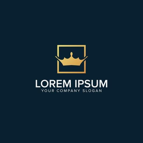 Kroon in vierkante Logo Template vectorillustratie vector