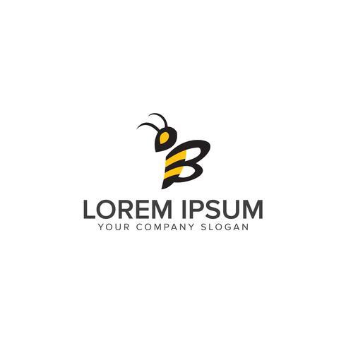 Bee Logo vector ontwerpsjabloon