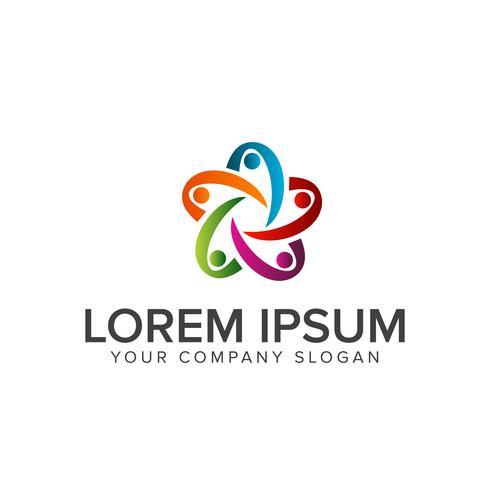 people Business en Consulting-logo. teamwerk communicatie groep vector