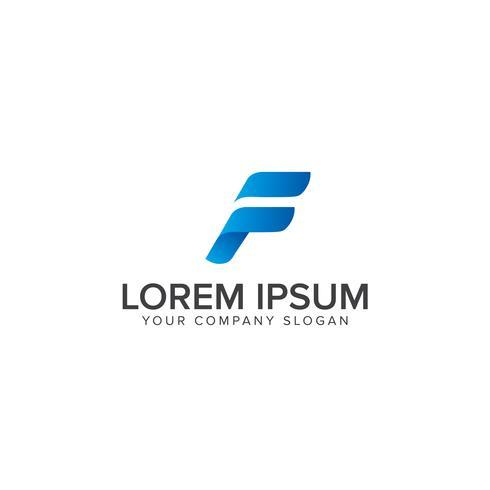 F Brief logo Abstract ontwerp, snelle sport letter f logo pictogram des vector