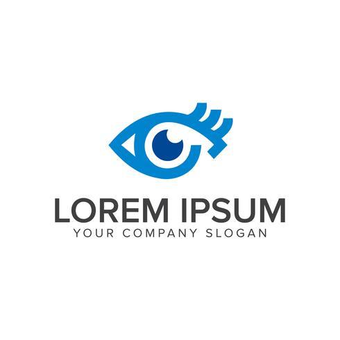 blauwe ogen logo ontwerpsjabloon concept vector