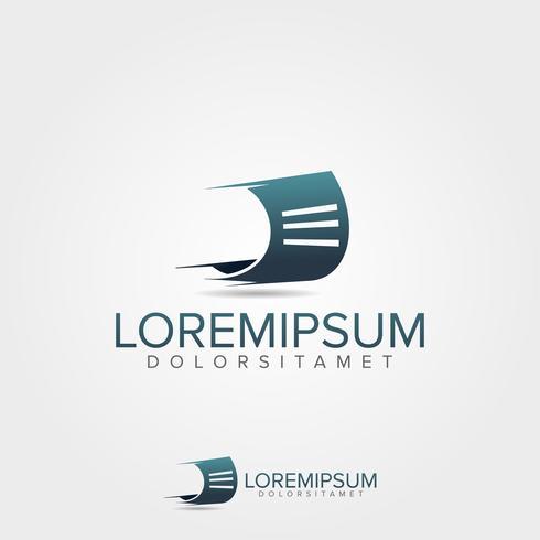 Run Document Logo ontwerpsjabloon vector