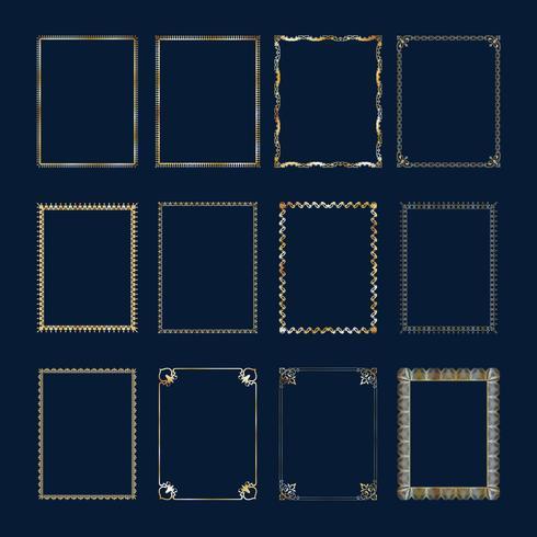 luxe decoratieve achtergrond. Gouden damast bloemmotief. Koninklijk behang. vector