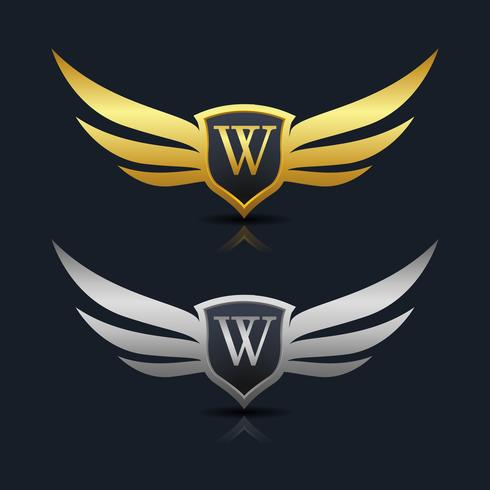 Letter W embleem Logo vector