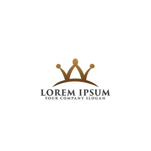 letter w kroon logo ontwerpsjabloon concept vector
