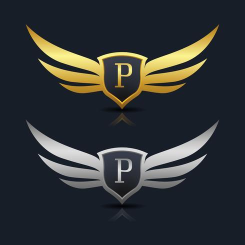 Letter P embleem Logo vector