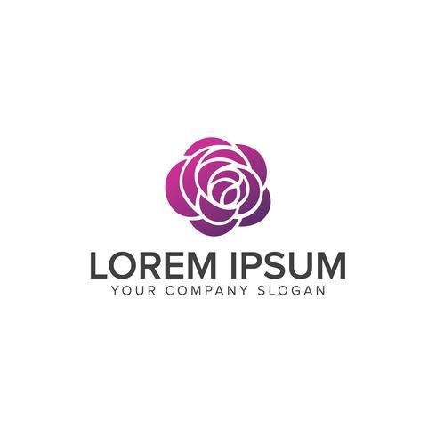bloem logo. Spa en esthetiek logo ontwerpsjabloon concept vector