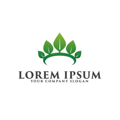 leaf crown logo Spa Cosmetica en schoonheid logo ontwerpconcept tem vector
