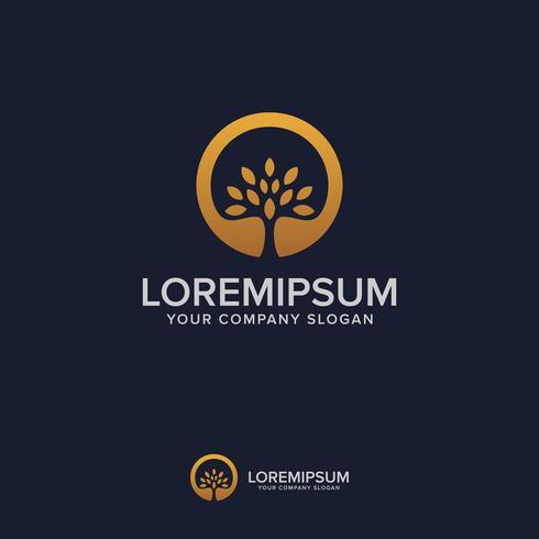 boom luxe logo ontwerpsjabloon concept vector