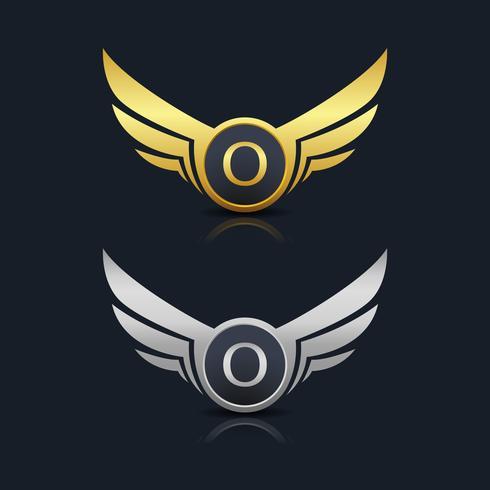 Letter O embleem Logo vector