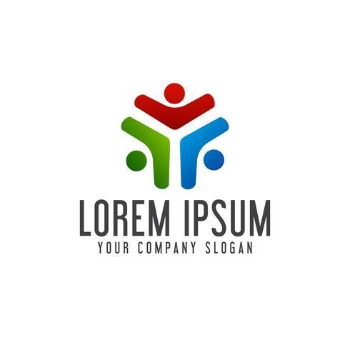 Zakelijke en consulting mensen logo's. teamwerk logo design conce vector