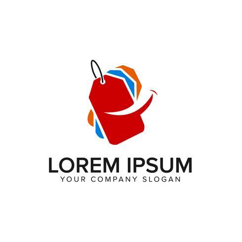glimlach verkoop label logo ontwerpsjabloon concept vector