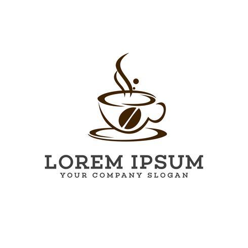 koffie logo ontwerpsjabloon concept vector