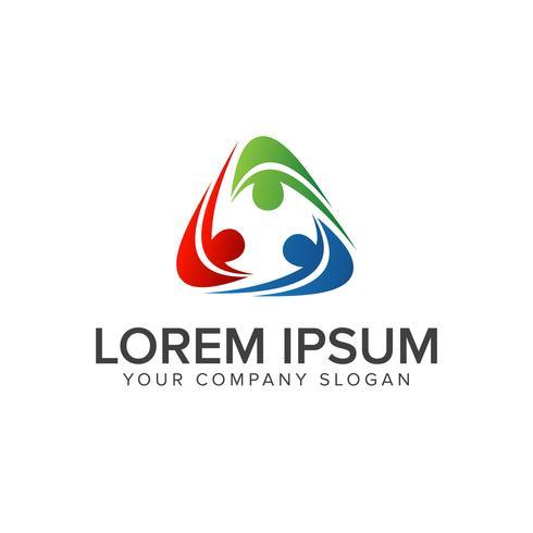 people Business en Consulting-logo. teamwerk communicatie groep logo ontwerpsjabloon concept vector