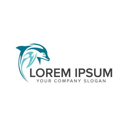 dolfijn logo ontwerpsjabloon concept vector
