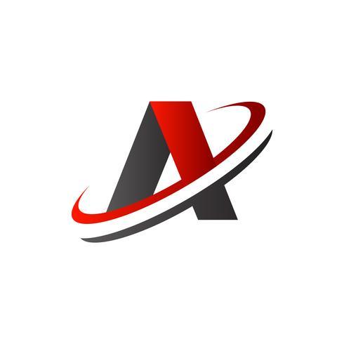 letter A-logo. plak logo ontwerpsjabloon van het concept vector