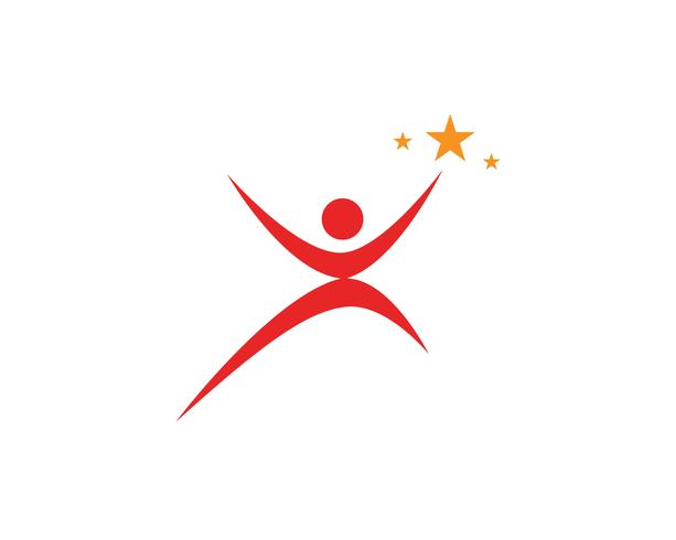 succes mensen zorg logo en symbolen sjabloon vector