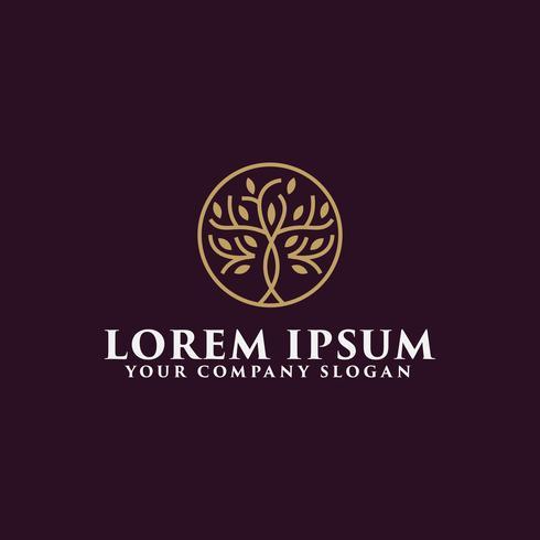 luxe boom logo ontwerpsjabloon concept vector