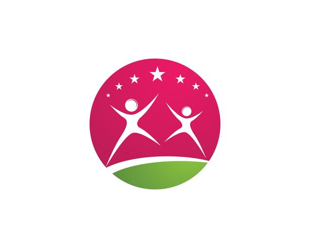 mensen succes gezondheid leven logo sjabloon pictogrammen vector