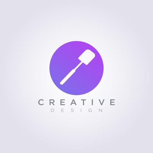 Spatel Kok Vector Illustratie Ontwerp Clipart Symbool Logo Sjabloon