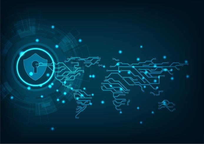 Technologie cyberbeveiliging vector