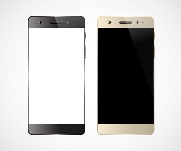 Twee mobiele telefoons vector