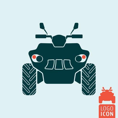 Quad fiets pictogram vector