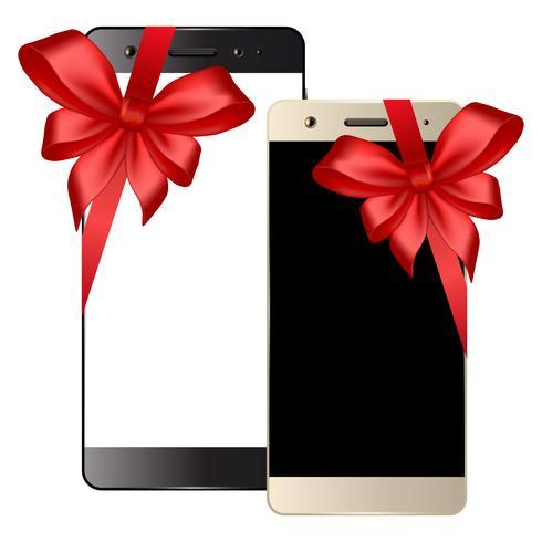 Zwart witte smartphone vector
